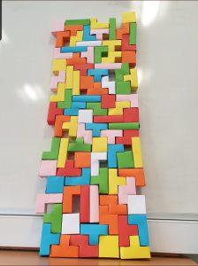 Tetris wall image